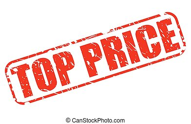 TOP PRICE red stamp text