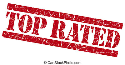 Top rated red grunge stamp