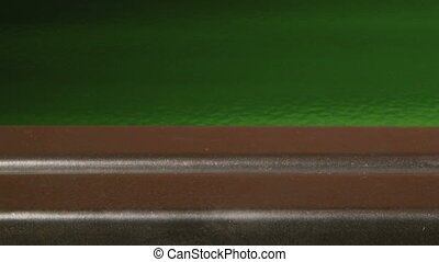 Top Secret Access Card, green, closeup