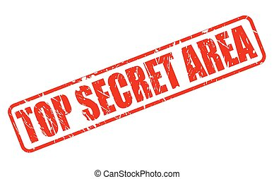 TOP SECRET AREA RED STAMP TEXT