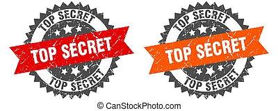 top secret band sign. top secret grunge stamp set