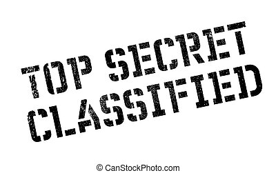 Top Secret Classified rubber stamp