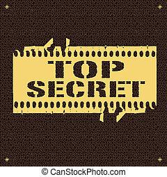 Top Secret - backround whit text Top Secret vector...