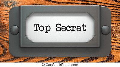 Top Secret - Concept on Label Holder.