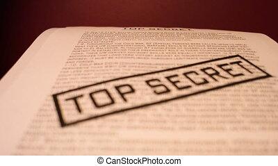 Top secret confidential documents. - Printing Top Secret...