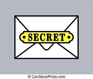 Top secret document icon in envelope