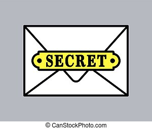 Top secret document icon in envelope
