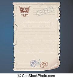 Top Secret Document Template