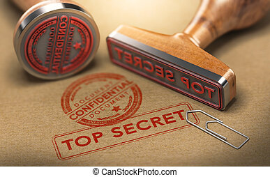 Top Secret Documents, Sensitive Information - 3D ...