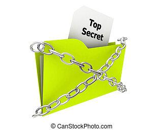 top secret folder - illustration of a top secret folder