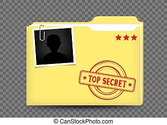 top secret folder on transparent