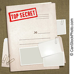 top secret folder - dorsal view of military top secret...