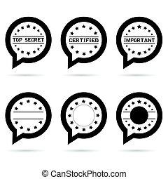 top secret icon in speech bubble illustration