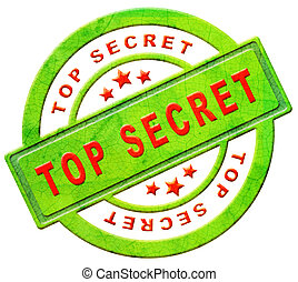 top secret icon or stamp confidential or classified...