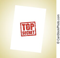 top secret icon stamp