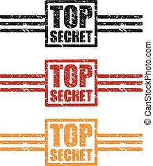top secret icon stamp set