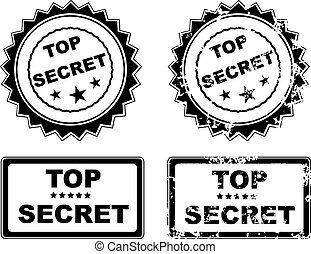 Top secret - Abstract grunge office rubber stamp with the...