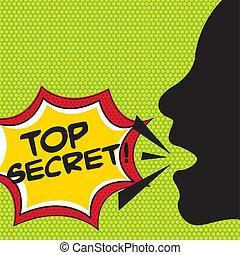 top secret comic explosion, pop art. vector illustration