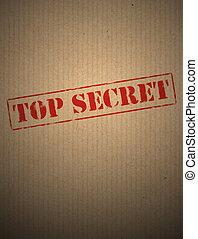 Top secret on kraft paper