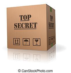 top secret package cardboard box