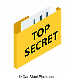 Top secret package isometric 3d icon