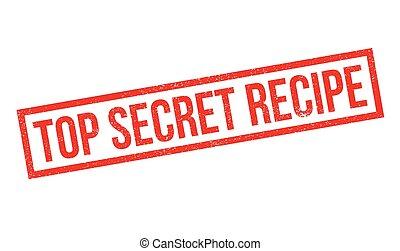 Top Secret Recipe rubber stamp