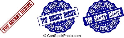 TOP SECRET RECIPE Scratched Stamp Seals