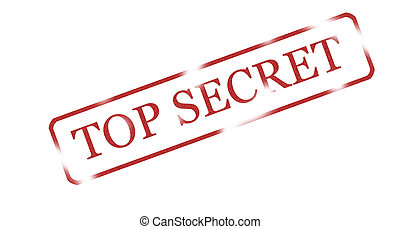 Top secret - Red ink stamp with words 'top secret'