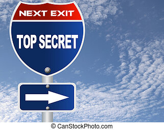 Top secret road sign