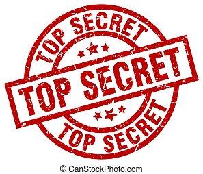 top secret round red grunge stamp