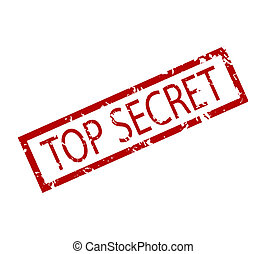 Top secret rubber stamp isolated
