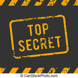 Top secret rubber stamp - Rubber stamp with the text top...
