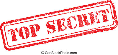 Top secret rubber stamp vector illustration. Contains original brushes