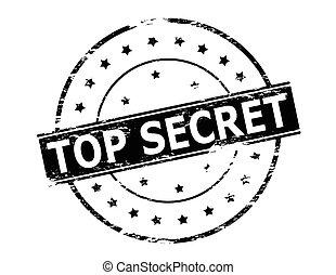 Top secret - Rubber stamp with text top secret inside,...