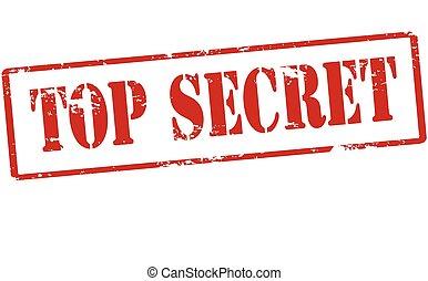 Top secret - Rubber stamp with text top secret inside, ...
