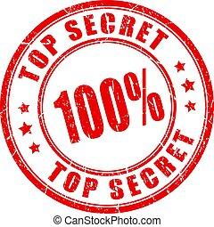 Top secret rubber vector stamp