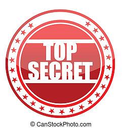 top secret seal illustration design