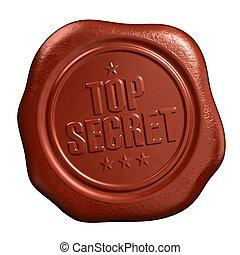 Top secret seal - Top secret - seal stamp