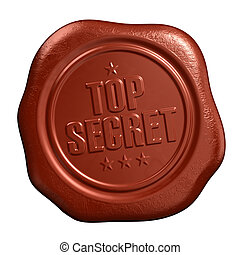 Top secret seal - Top secret - seal stamp