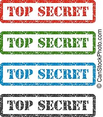 top secret set rubber stamp isolated on white background