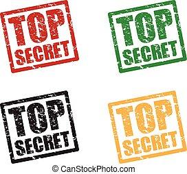 top secret set stamps