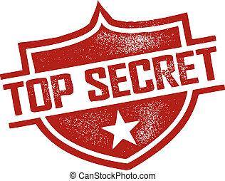Top Secret Stamp - Rubber Stamp style top secret imprint.