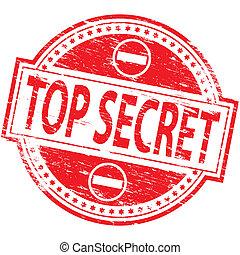 """Top Secret Stamp - Rubber stamp illustration showing """"TOP..."""