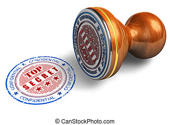 Top secret stamp isolated on white background