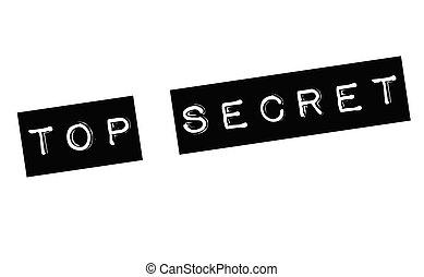 top secret stamp on white background. Sign, label, sticker