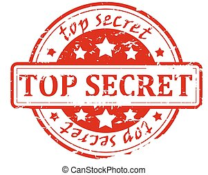 Top secret - stamp - Round red stamp with the words Top...