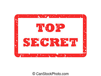 Top Secret stamp - Top secret red stamp, isolated on white...