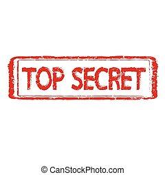 TOP SECRET stamp text Illustration