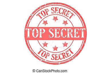 top secret stamp - top secret grunge rubber stamp vector...