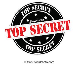 Top secret - Stamp with text top secret inside, vector...